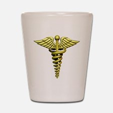 Golden Medical Symbol Shot Glass