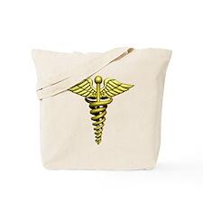 Golden Medical Symbol Tote Bag