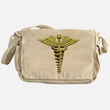 Golden Medical Symbol Messenger Bag
