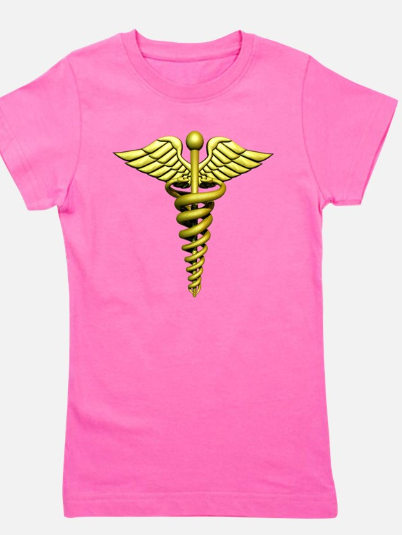 Golden Medical Symbol Girl's Tee
