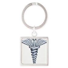 Medical Symbol Square Keychain