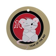 Year of the Rat Ornament (Round)