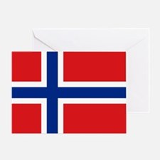 Norway Flag Card Greeting Cards