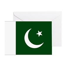 Pakistan Flag Card Greeting Cards