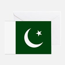 Pakistan Flag Card Greeting Cards