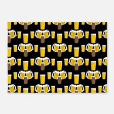 Beer Smile 5'x7'Area Rug