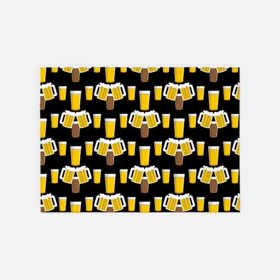 Beer Smile 5'x7'Area Rug