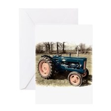 Antique Vintage Fordson Tractor Greeting Cards