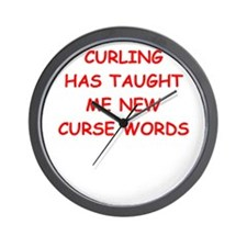 Cool I love curlers Wall Clock