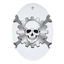 Gear Motor Skull Ornament (Oval)