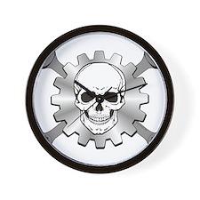 Gear Motor Skull Wall Clock