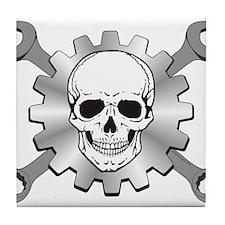 Gear Motor Skull Tile Coaster