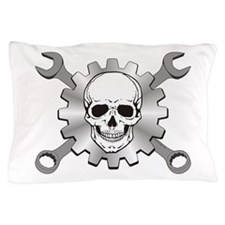 Gear Motor Skull Pillow Case