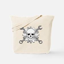 Gear Motor Skull Tote Bag