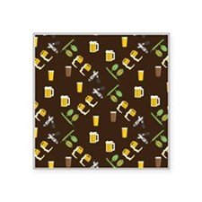 """Beer Collage Square Sticker 3"""" x 3"""""""