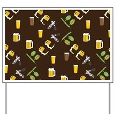 Beer Collage Yard Sign