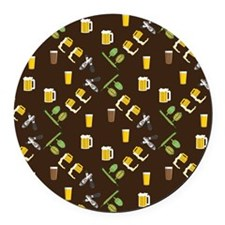Beer Collage Round Car Magnet