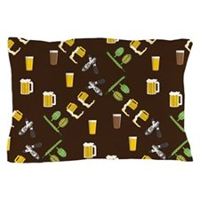 Beer Collage Pillow Case