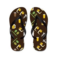 Beer Collage Flip Flops
