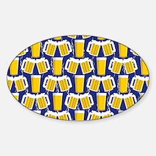 Beer Cheers Sticker (Oval)