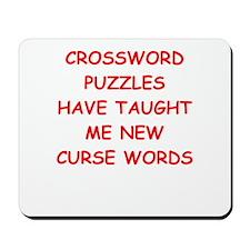 i love crossword puzles Mousepad