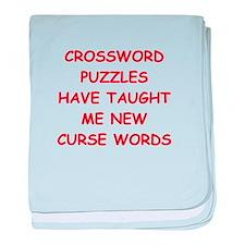 i love crossword puzles baby blanket