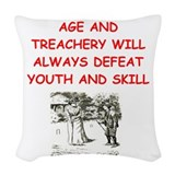 Croquet players Throw Pillows