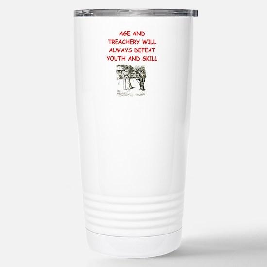 Cute Croquet Travel Mug