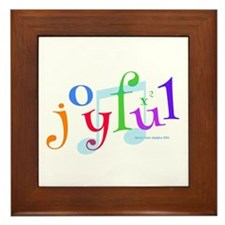 Joyful X 2 Framed Tile