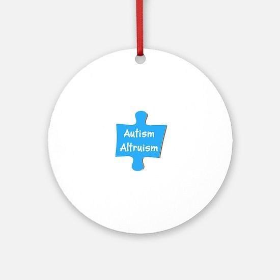 Practice Autism Altruism Blue Puz Ornament (Round)