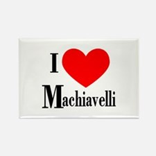 I Love Machiavelli Rectangle Magnet