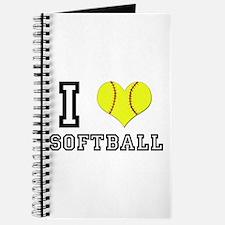 I Heart (Love) Softball Journal