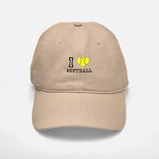 I Heart (Love) Softball Baseball Baseball Cap