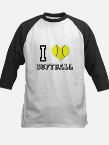 I Heart (Love) Softball Tee