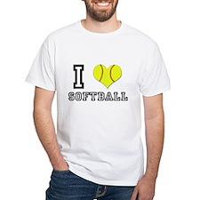 I Heart (Love) Softball Shirt