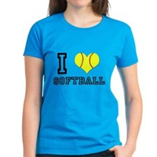 I Heart (Love) Softball Tee
