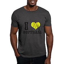 I Heart (Love) Softball T-Shirt