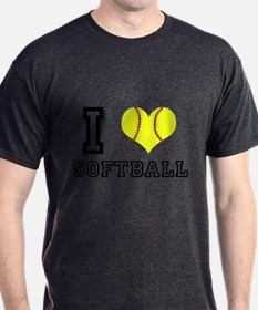 I Heart (Love) Softball T-Shirt