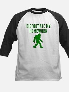 Bigfoot Ate My Homework Baseball Jersey