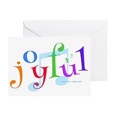Joyful X 2 Greeting Cards