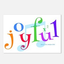Joyful X 2 Postcards (package Of 8)