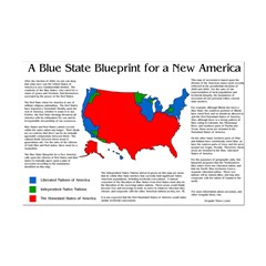 11x17 Blue State Secession Map Poster