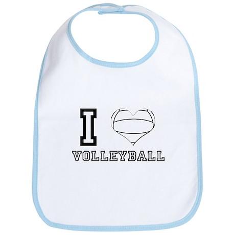 I Heart (Love) Volleyball Bib
