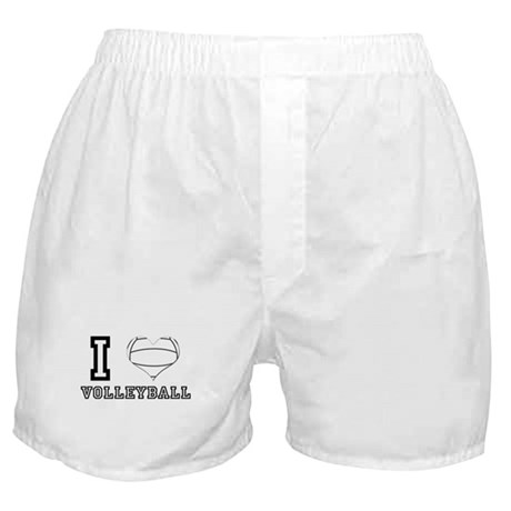 I Heart (Love) Volleyball Boxer Shorts
