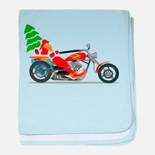 Have a Harley Christmas baby blanket