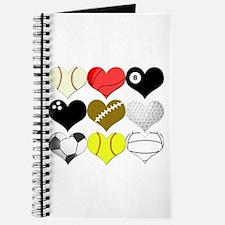I Heart (Love) Sports Journal