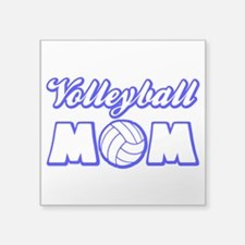 "VOLLEYBALL MOM Square Sticker 3"" x 3"""