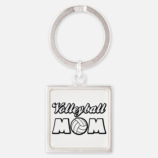 VOLLEYBALL MOM Square Keychain