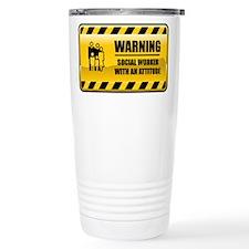 Cute Funny social worker Travel Mug