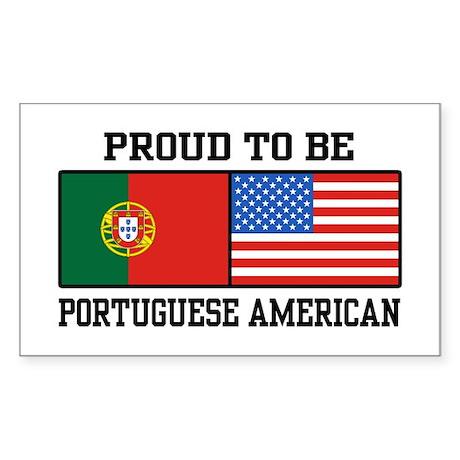 Portuguese American Rectangle Sticker